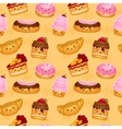 Seamless sweet baked pastries vector image vector image