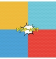 Seamless texture in pop-art style vector image vector image