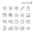 security line icons editable stroke pixel vector image vector image