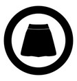 skirt black icon in circle isolated vector image vector image