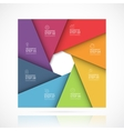 square infographic template 8 steps vector image vector image