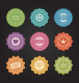 stickers with shabvintage labels set vector image vector image