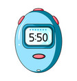stopwatch for calculating time and speed of travel vector image vector image