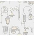 Street lantern seamless pattern vector image vector image