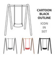 swing seat icon in cartoon style isolated on white vector image vector image