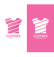 t-shirt logo combination garment and vector image
