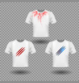 t-shirt mockup with claws scratches and human vector image