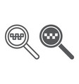 taxi search line and glyph icon find and taxi vector image vector image