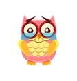 Tearful Pink Owl vector image vector image