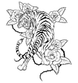 tiger-tattoo vector image