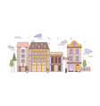 urban landscape with district with elegant vector image vector image
