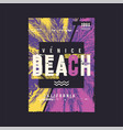 venice beach graphic t-shirt design poster vector image vector image
