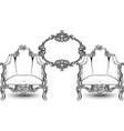 vintage baroque rococo furniture rich vector image vector image