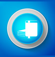 white book icon isolated on blue background vector image vector image