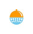 world food logo icon design vector image vector image