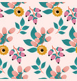 yellow boho roses in a seamless pattern design vector image vector image