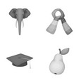 zoo institute and other monochrome icon in vector image vector image