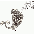 Background with bird design elements vector image