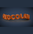 3d typography - chocolate vector image vector image