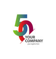 50 year anniversary template design vector image vector image