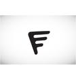 Alphabet letter F black logo icon design vector image vector image