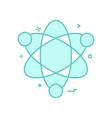 atom science icon design vector image vector image