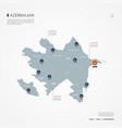 azerbaijan infographic map vector image vector image