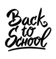 back to school hand drawn lettering phrase vector image vector image