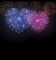 beautiful heart-fireworks cute background card vector image vector image
