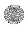 black and white symbol harmony and balance vector image