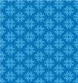 Blue damask seamless pattern vector image