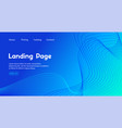 blue landing page template abstract vector image vector image