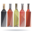 Bottles abstract isolated on a white backgrounds vector image
