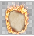 burning sheet paper eps 10 vector image