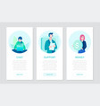 business strategy - set of flat design style vector image