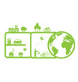 clean environment and eco vector image vector image