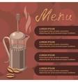 coffee press vector image vector image