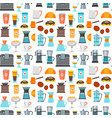 coffee shop background pattern vector image