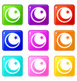 crescent and star set 9 vector image vector image