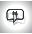 Curved man woman message icon vector image vector image