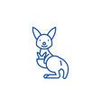 cute kangaroo line icon concept cute kangaroo vector image vector image