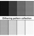 dithering halftone seamless pattern dots vector image