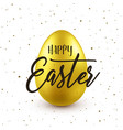 easter background with realistic golden egg vector image vector image