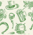 festive saint patricks day seamless pattern vector image