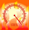 fire background stress meter vector image