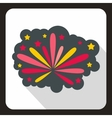 Firework icon in flat style vector image vector image