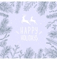 Frame branch fir vector image