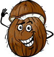 funny coconut fruit cartoon vector image