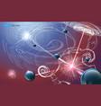 futuristic nanotechnology background vector image