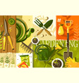 gardening abstract background vector image vector image